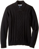 Tommy Hilfiger Sam Shawl Cable Sweater (Big Kids)