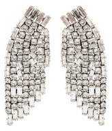 Saint Laurent Crystal clip-on earrings