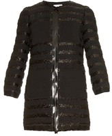 Sonia Rykiel Collarless striped tweed coat