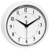 Infinity Instruments The Retro Round Wall Clock White