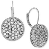 Vince Camuto Silver-Tone Crystal Disc Drop Earrings