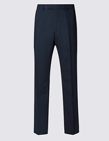 M&s Collection Big & Tall Navy Regular Fit Trousers
