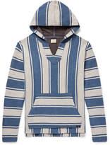 Faherty Baja Striped Cotton Hoodie