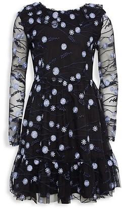 Bardot Junior Girl's Candice Embellished Mesh Dress