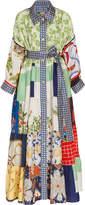 Of A Kind Rianna + Nina Exclusive One Volant Silk Shirt Dress