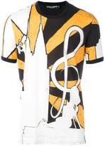 Dolce & Gabbana musical print T-shirt - men - Cotton - 46