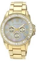 Vince Camuto Gray Mother-of-Pearl Dial Multifunction Watch Embellished with Crystals from Swarovski