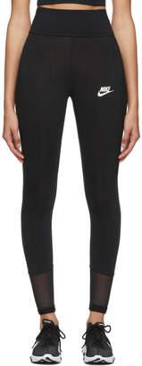 Nike Black Mesh Tight-Fit Leggings