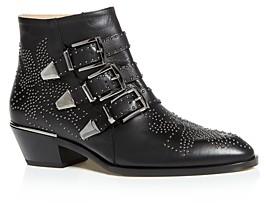 Chloé Women's Susanna Pointed-Toe Studded Booties