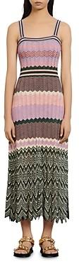 Sandro Sonya Chevron-Knit Midi Dress