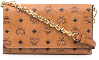 MCM Faux Leather Wallet On Chain