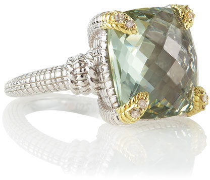 Judith Ripka Quartz Cushion-Cut Ring