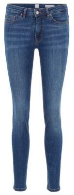 BOSS Slim-fit jeans in super-stretch used-effect denim