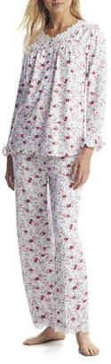 Eileen West Cozy Roses Sweater Knit Pajama Set