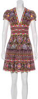 Naeem Khan Embroidered A-Line Dress