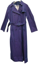 Burberry Purple Cotton Trench coat