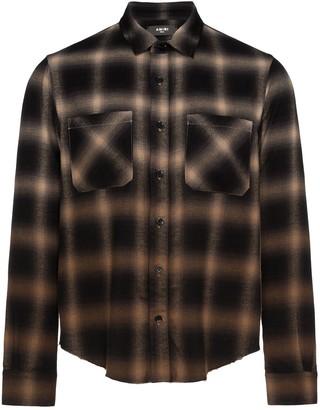 Amiri Gradient Plaid Shirt