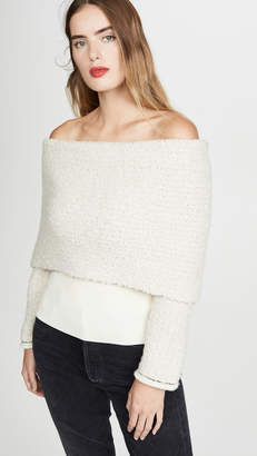 3.1 Phillip Lim Off Shoulder Boucle Pullover