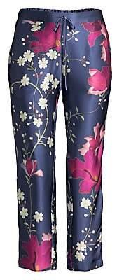 Natori Women's Bloom Silk Pants