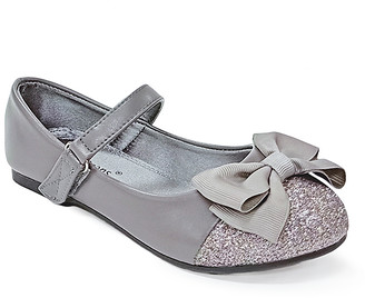 Jelly Beans Girls' Mary Janes PEWTER - Pewter Qiro Mary Jane - Girls