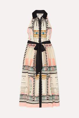 Temperley London Obelisk Printed Stretch-cotton Midi Dress - Cream