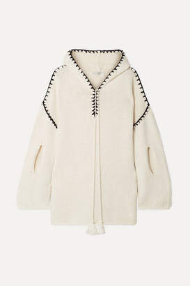 Philosophy di Lorenzo Serafini Hooded Cutout Cotton-blend Sweater - Cream