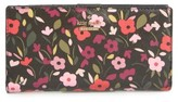 Kate Spade Women's Cameron Street - Stacy Boho Floral Wallet - Black