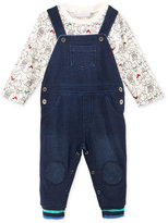 First Impressions 2-Pc. T-Shirt & Denim Overall Set, Baby Boys (0-24 months), Only at Macy's
