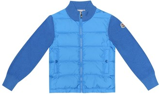 Moncler Enfant Quilted down and wool-blend jacket