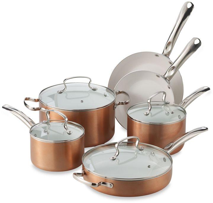 Denmark 10-Piece Ceramic Nonstick Aluminum Cookware Set