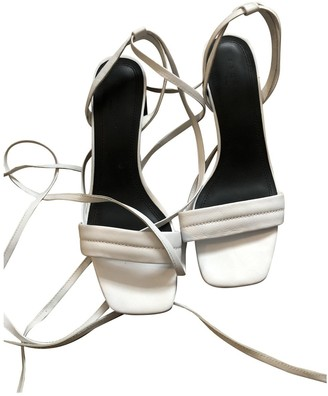 Sandro White Leather Sandals