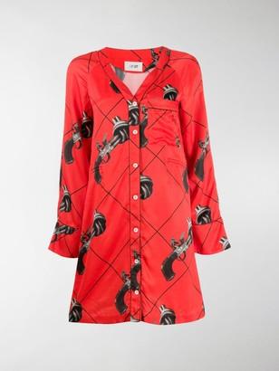 Kirin Gun Print Shirt Dress
