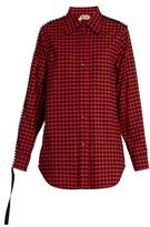 No.21 NO. 21 Embellished checked cotton shirt