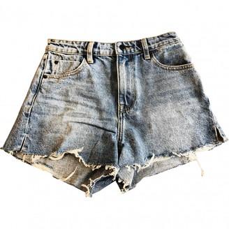 Alexander Wang Blue Denim - Jeans Shorts for Women