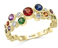 Bloomingdale's Rainbow Sapphire & Diamond Band in 14K Yellow Gold - 100% Exclusive