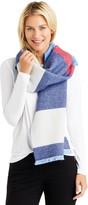 J.Mclaughlin Nadia Reversible Wool Scarf in Barre Stripe