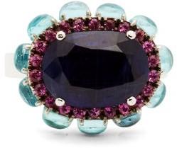 Ileana Makri Wish Eternity Flower 18kt White-gold Ring - Blue Multi