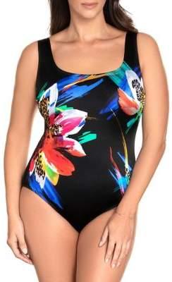 Longitude Rio Xo Panel Scoopneck 1-Piece Swimsuit