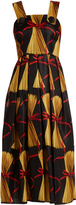 Dolce & Gabbana Spaghetti-print silk-organza midi dress