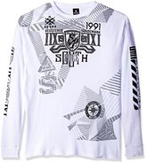 Southpole Men's Big and Tall Long Sleeve Hd, Screen Print Graphic Tee Logo