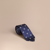 Burberry Modern Cut Floral and Spot Jacquard Silk Tie