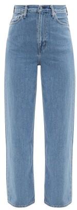 Ganni X Levis Slit-cuff Straight-leg Jeans - Denim