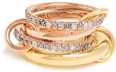 SPINELLI KILCOLLIN Cancer diamond, yellow & rose-gold ring
