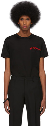 Alexander McQueen Black Mercerized Logo T-Shirt