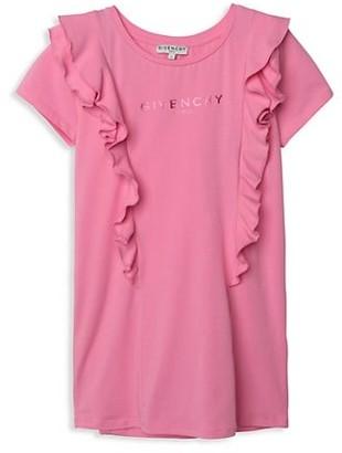 Givenchy Little Girl's & Girl's Logo Ruffle T-Shirt Dress
