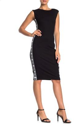 Bebe Ribbed Knit Logo Dress