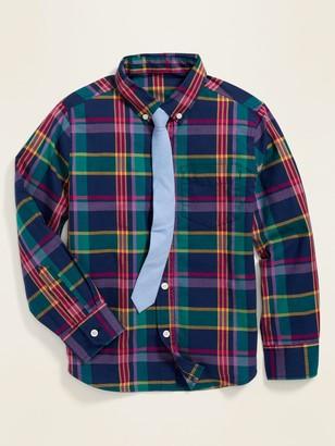 Old Navy Built-In Flex Shirt & Tie Set for Boys