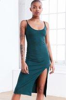 Silence & Noise Silence + Noise Thigh-Slit Midi Slip Dress