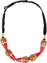 Marni Whirligig wood necklace