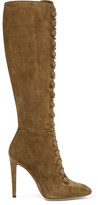 Gianvito Rossi Suede Knee Boots - Army green